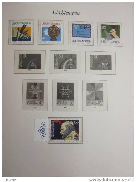 Liechtenstein  Collection Timbres Neufs MNH ** 2 Pages De Type MOCK + 1page Sans Bloc Faire Défiler Les Pages Ci-dessous - Liechtenstein