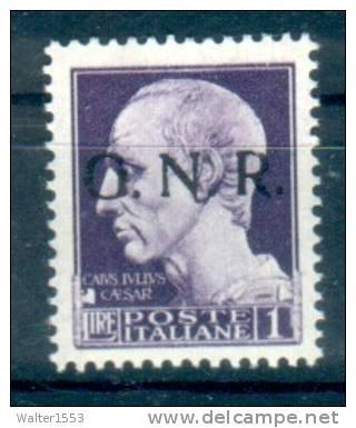 ITALIA 1944 RSI 1 Lira GNR  VR **MNH  ALTA QUALITA' - 1944-45 République Sociale