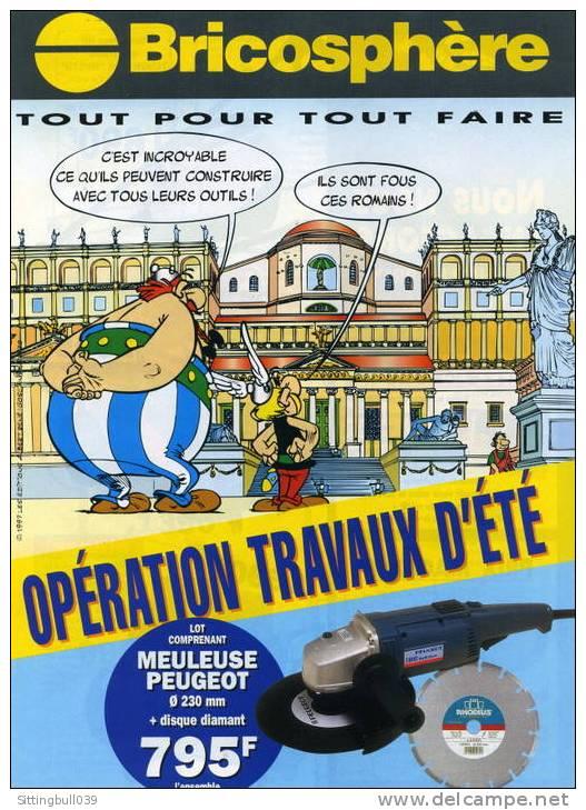 ASTERIX. Catalogue Publicitaire BRICOSPHÈRE. OPERATION TRAVAUX D´ETE. 1997 Les Ed. Albert René / GOSCINNY-UDERZO. - Objets Publicitaires