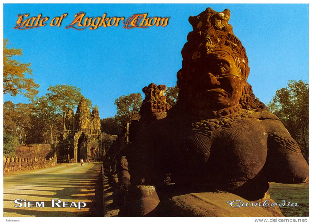 CAMBODIA - GATE OF ANGKOR THOM - SIEM REAP - PERFECT MINT QUALITY - Cambodia