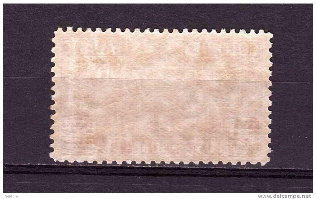 LIBYA  Express Cent 60 Overprinted Lire 1,25  Sassone. Cat. N° 12  MNH** - Libyen
