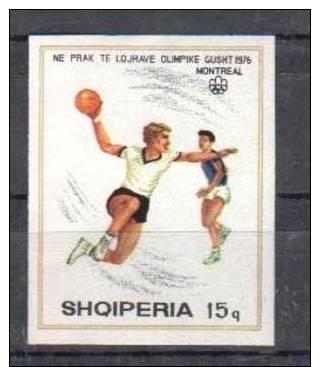 ALBANIA 1976 OLYMPIC GAMES HANDBALL IMPERFORATED - Balonmano