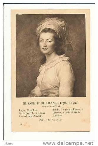 Image 14 X 9 Cm / Elisabeth De France (soeur De Louis XVI) / Histoire  (Musée De Versailles)  // CP 8/436 - Vieux Papiers