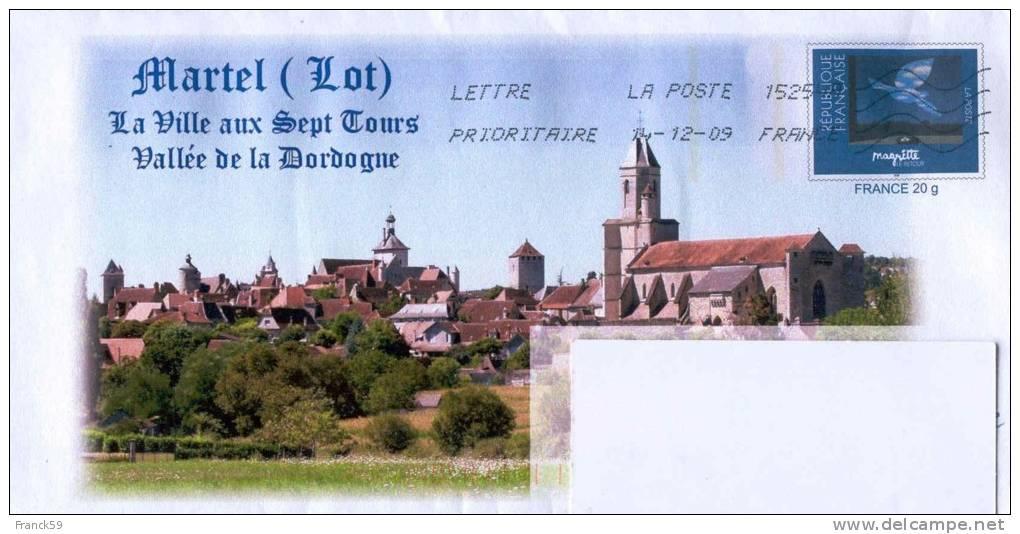 """PAP ENTIER POSTAL MAGRITTE N° 3145 - MARTEL (Lot) """"Dordogne"""" - Prêts-à-poster: Repiquages Privés"""