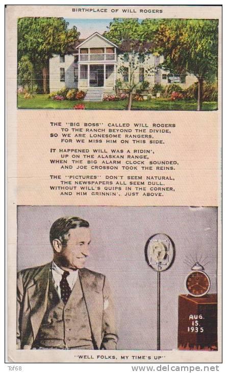 Oklahoma Claremore Will Rogers Birthplace - Non Classés