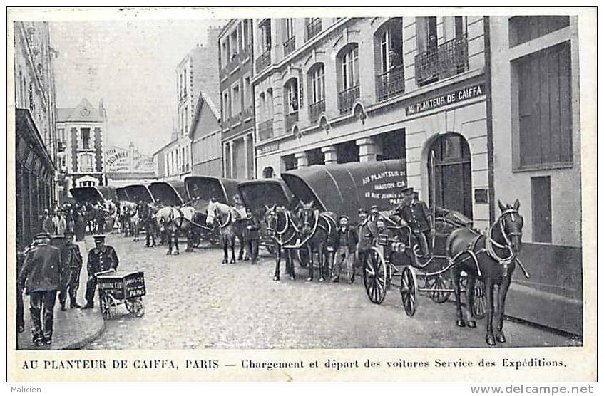 Themes Div-ref E307-au Planteur De Caiffa Paris -chargement Et Depart Des Voitures Service Des Expeditions    - - Magasins