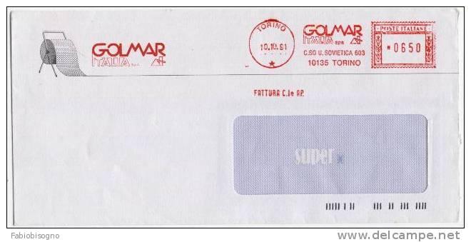 Torino 1991 - Golmar Italia Spa  - Affrancatura Meccanica EMA Meter Freistempel - Chimica