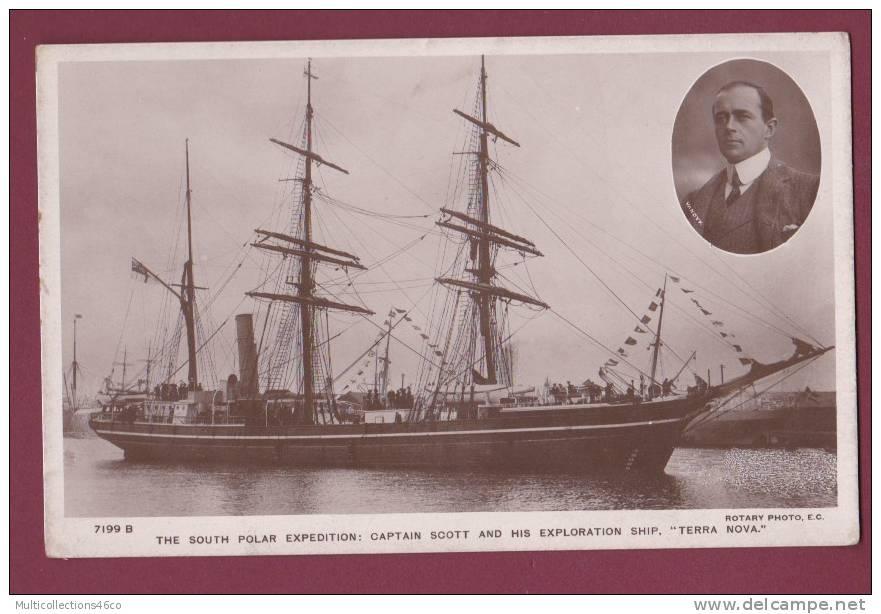 BATEAU - 030413 - EXPEDITION POLAIRE - The South Polar Expédition Captain SCOTT And Exploration Ship TERRA NOVA - VANDYK - Missions