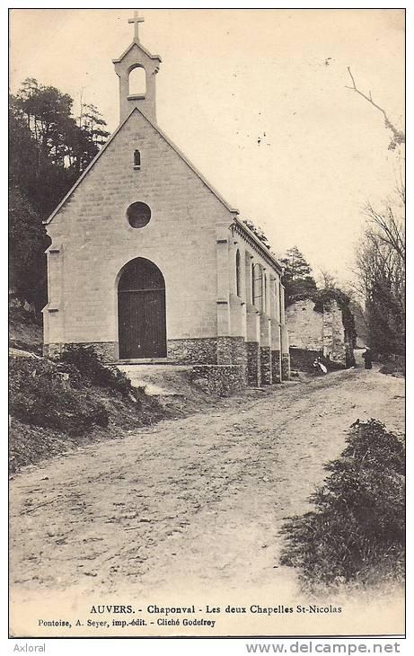 95 AUVERS 1910 CHAPONVAL RUE CHAPELLE ED A SEYER - Auvers Sur Oise