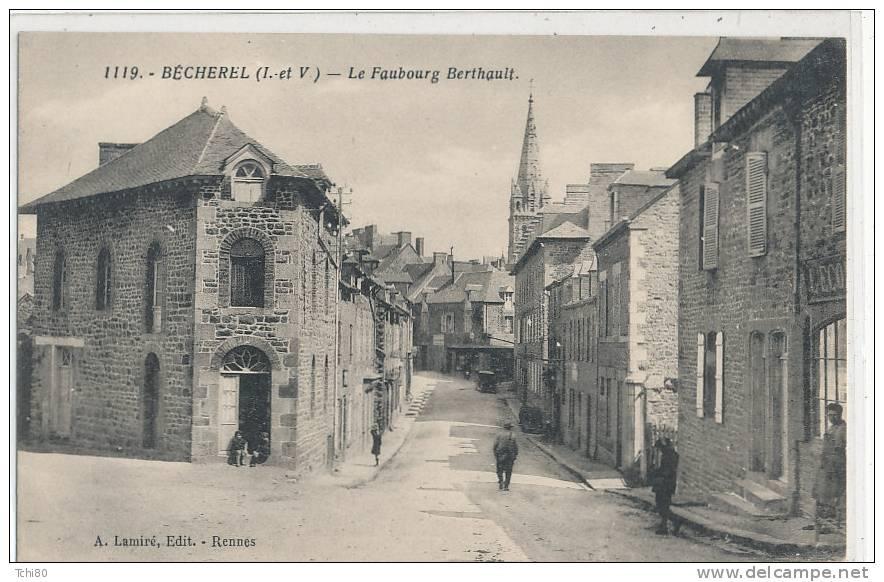 BECHEREL - Le Faubourg Berthault - Animée - Bécherel