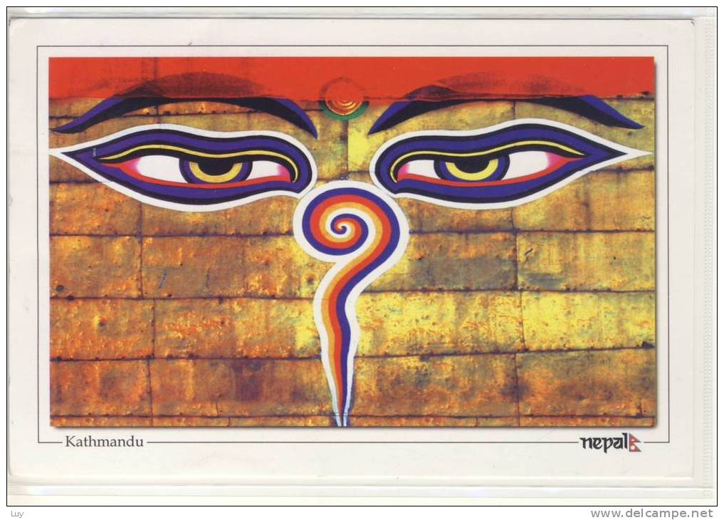 NEPAL - KATHMANDU : All-seeing Eyes Of BUDDHA, Nice Stamp - Nepal