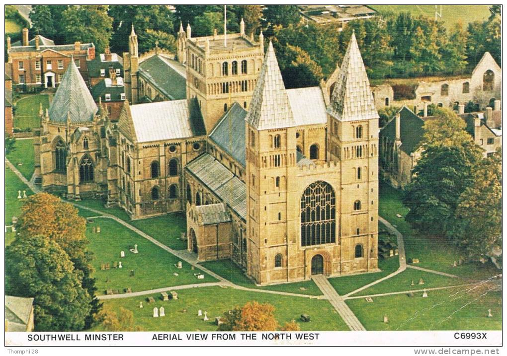 SOUTHWELL MINSTER - Aerial View From The North West - 2 Scans - Autres
