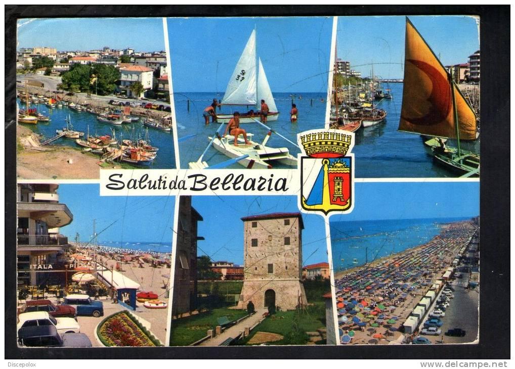 H482 Bellaria ( Rimini ) Multipla Con Barche, Ships, Barques E Auto Cars Voitures - Multipla - Fotoediz, Riviera - 1976 - Italie