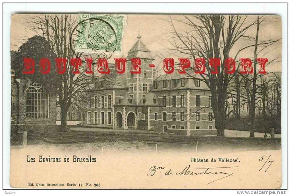 ACHAT IMMEDIAT - BELGIE - VOLLEZEEL - Le Chateau - Carte Voyagée 1908 - Belgium Belgique - Dos Scanné - Galmaarden