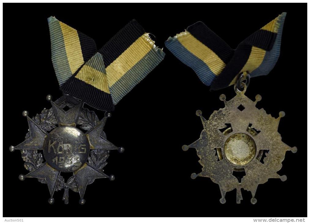 AG00111 Tir Schot Schuss, König 1933 Croix Et Lauriers Argent (14 G.) - Autres