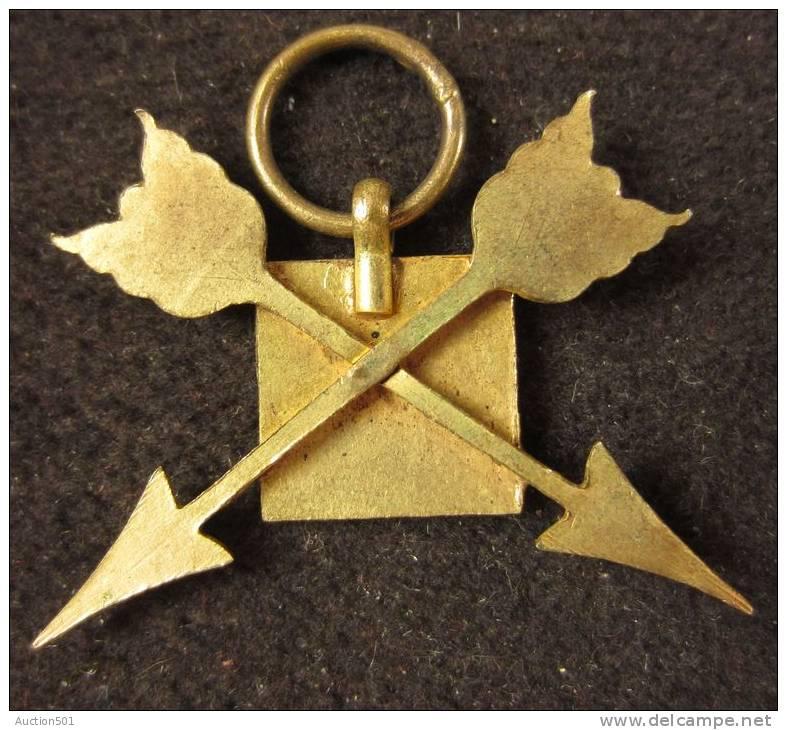M01450 Tir Schot Schuss, Cible Et Deux Flèches Croisées, émail Et Bronze Doré (4 G.) - Allemagne