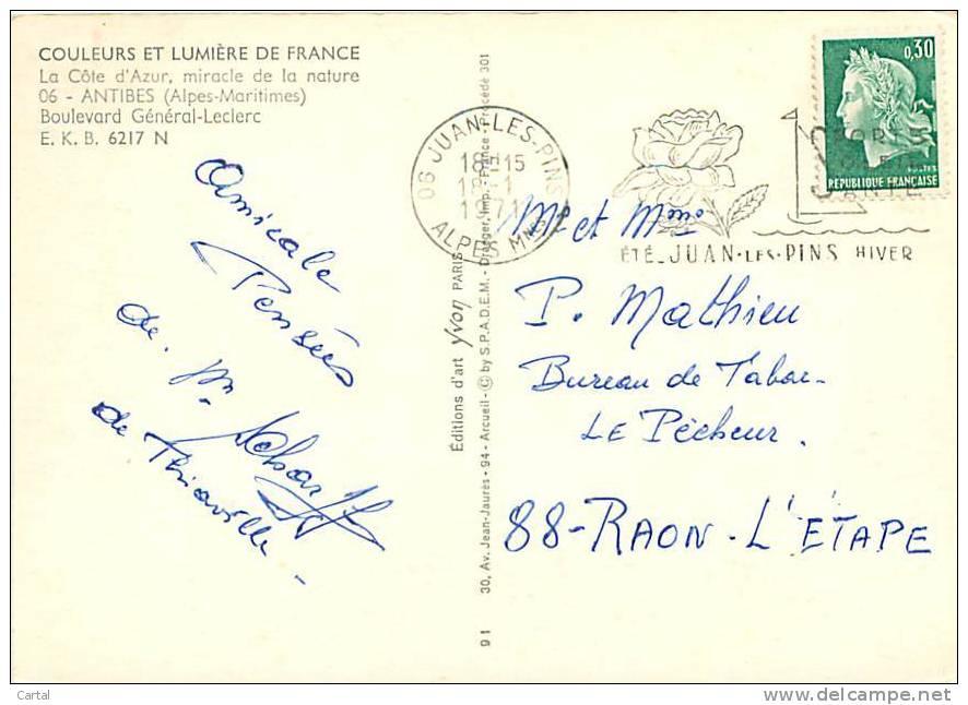 CPM - 06 - ANTIBES - Boulevard Général-Leclerrc (Ed. Yvon, E.K.B. 6217 N) - Antibes