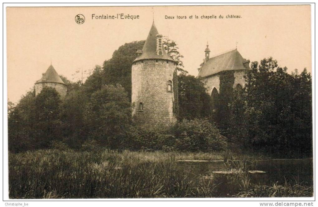 Fontaine L'Evêque, Deux Tours Et La Chapelle Du Château (pk9928) - Fontaine-l'Evêque