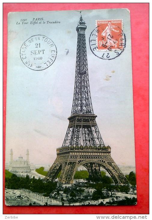 PARIS. La Tour Eiffel Et Le Trocadéro 1910. - Tour Eiffel
