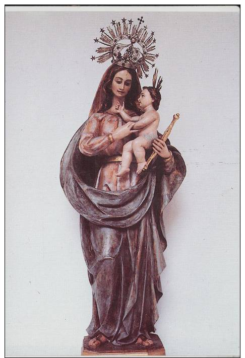 ALCALA DE HENARES(MADRID) MONASTERIO DE LAS BERNARDAS.VIRGEN MADRE DE DIOS  NO CIRCULADA 1988.CV 309 - Vierge Marie & Madones