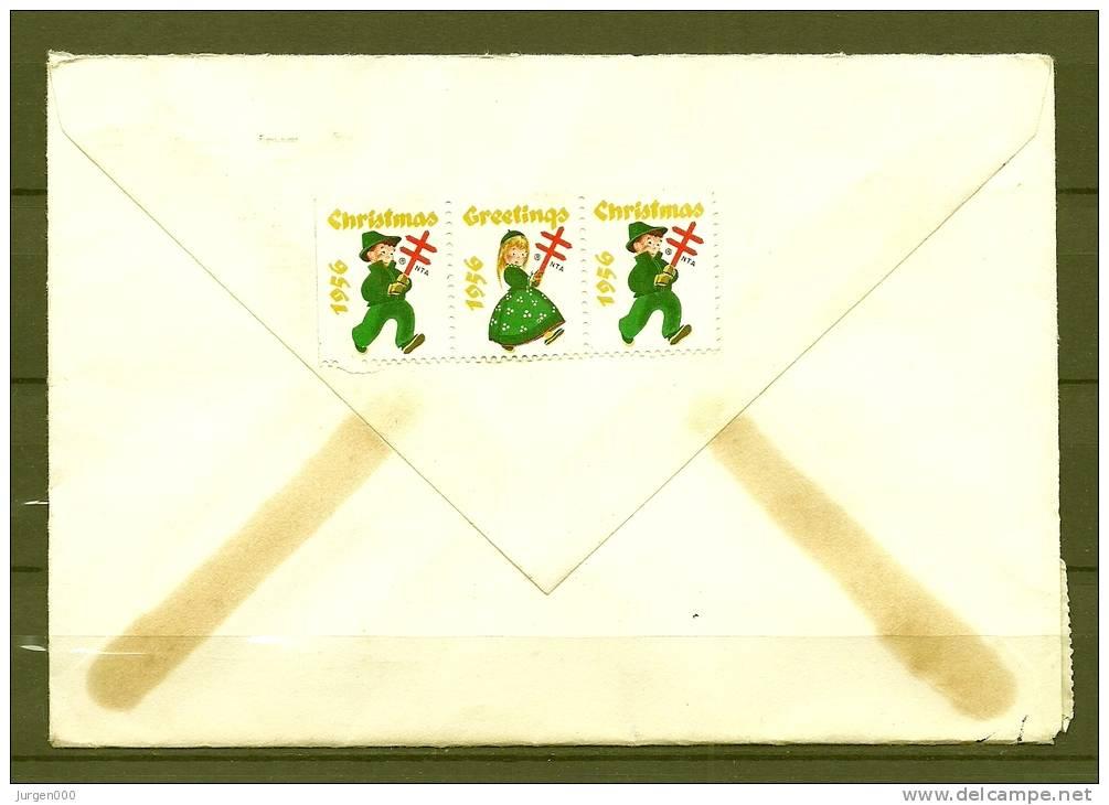 Brief Van Manchester Naar St Niklaas (Belgium)  06/12/1956  (GA5870) - Timbres