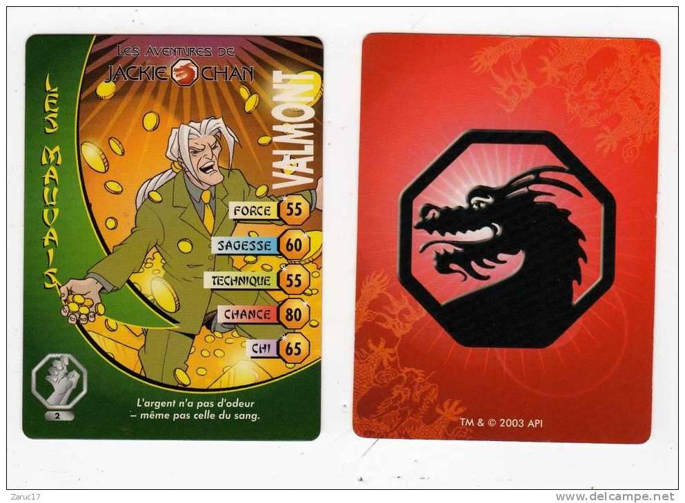 UNE IMAGE DES AVENTURES DE JACKIE CHAN VALMONT L Argent N'a Pas D Odeur Même Pas Celle Du Sang  TM 2003 AP1 - Trading Cards