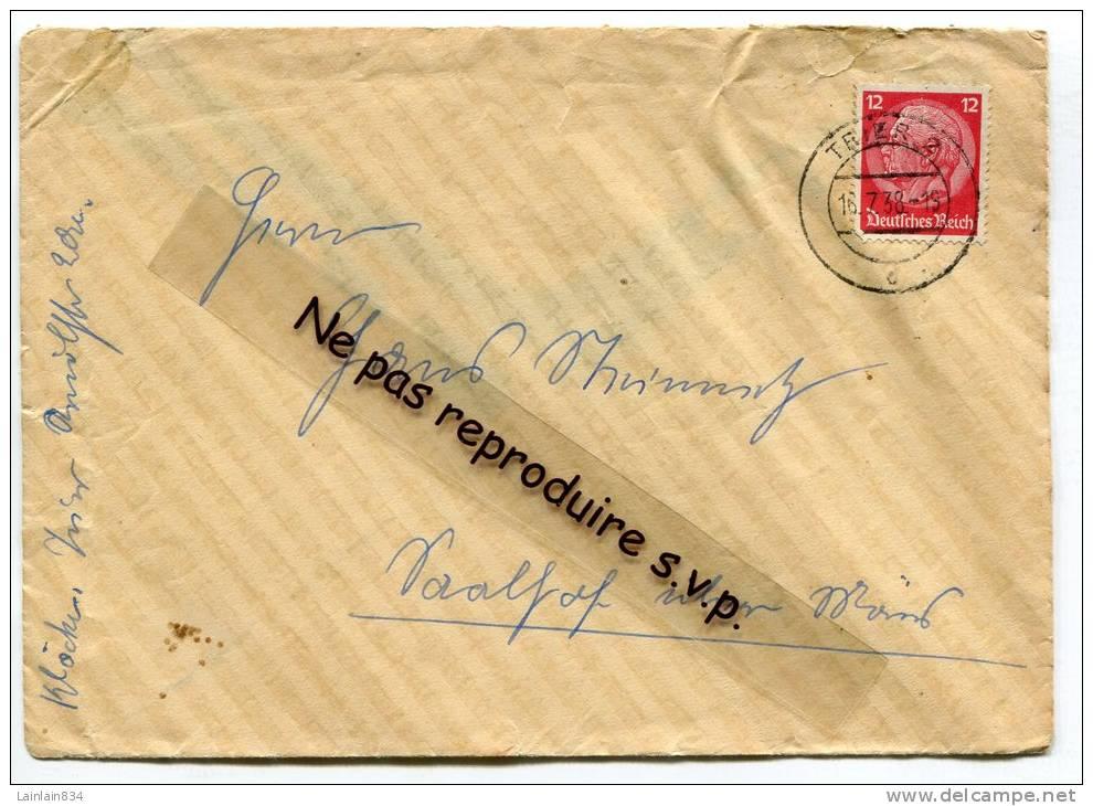 - Nice Cover - III éme Reich, Deutsches Riech, Timbre Seul Sur Lettre, 16-7-1938, Scans. - Briefe U. Dokumente