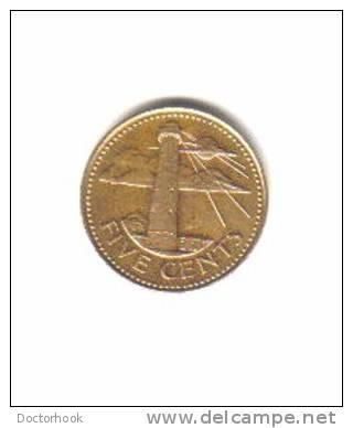 BARBADOS    5  CENTS  1988   (KM # 11) - Barbados