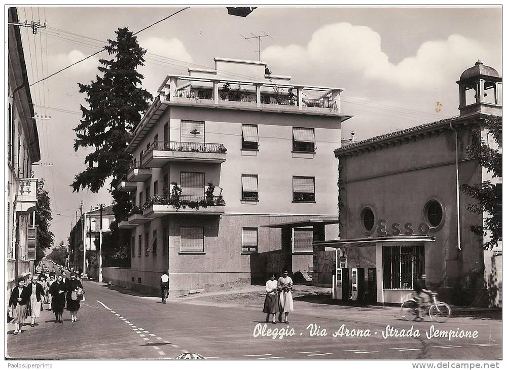 R5 229 - OLEGGIO - NOVARA - VIA ARONA - STRADA SEMPIONE -  VG. A. ´50 - F.G. - Novara