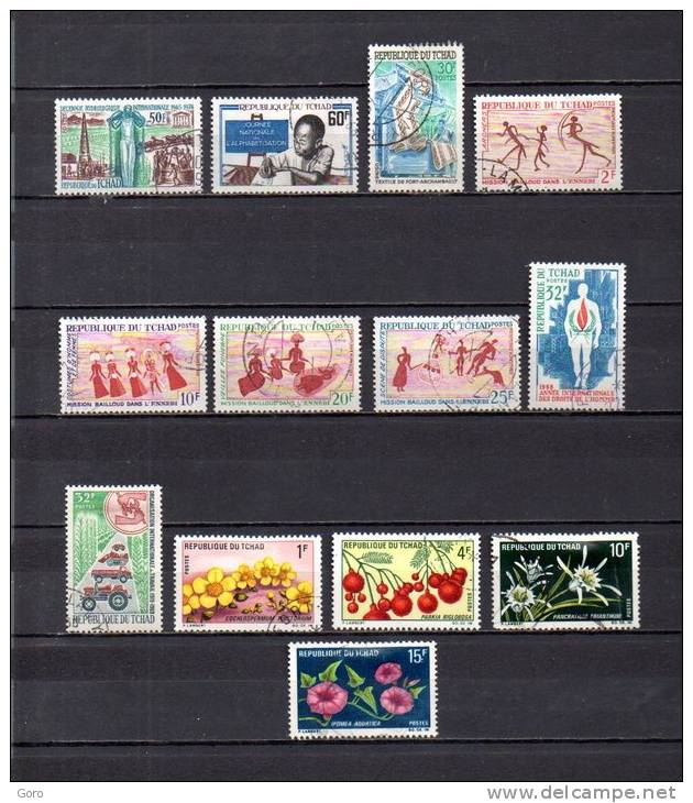 Tchad   1968-69 .-   Y&T Nº   152 -154 - 156 - 161/164 - 165 - 178 - 179/182 - Chad (1960-...)