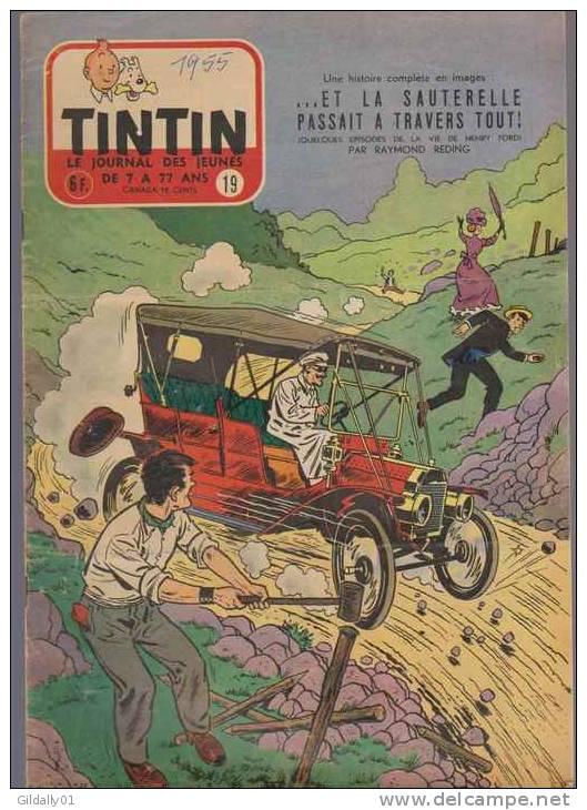 Journal TINTIN - Edition Belge.    1955.  N19.    Couverture Reding . - Tintin