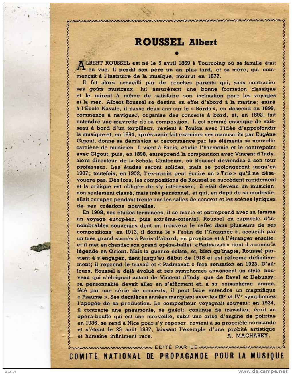 Carte De Camille-Saint-Saens  Sa  Vie  Au Verso  Voir Scan - Singers & Musicians