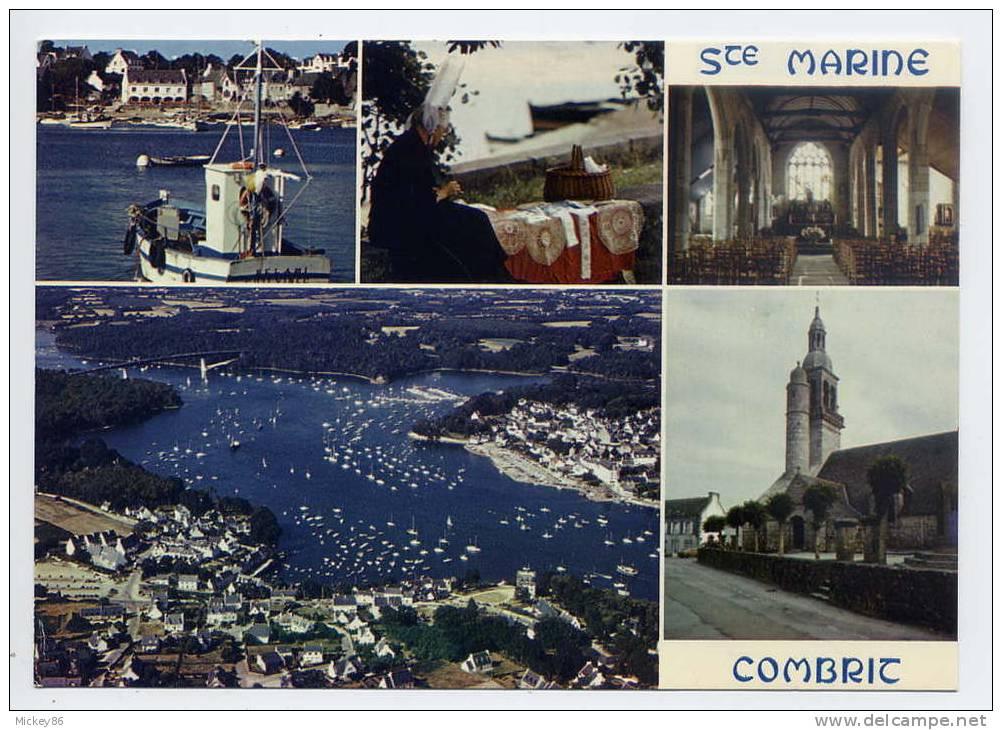 COMBRIT--Ste MARINE--Multivues--port,d Entelière......... Cpm  N° 2376  éd JOS - Combrit Ste-Marine