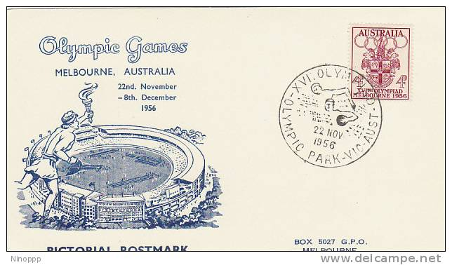Australia 1956 Melbourne Olympic Games,Water Polo, Souvenir Card - Summer 1956: Melbourne