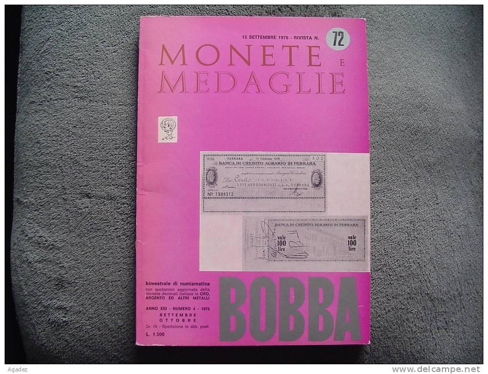 Catalogue De Vente Monnaies Et Médailles  Monete E Medaglie 1976 - Italian