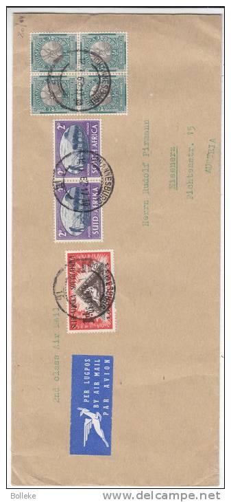 Timbres Sur Timbres - Bouquetins - Agriculture - Afrique Du Sud - Lettre Avion De 1962 - Expédié Vers L'Autriche - Afrique Du Sud (1961-...)