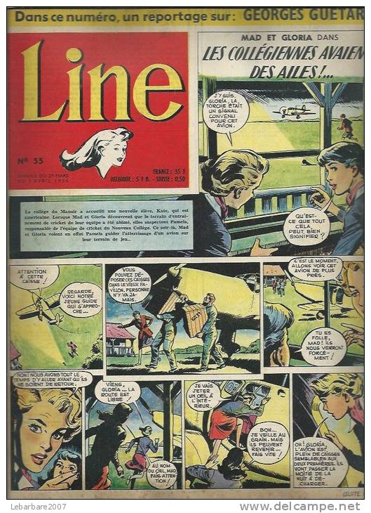 LINE   N° 55   -  DARGAUD  1956 - MAD ET GLORIA - Zeitschriften & Magazine