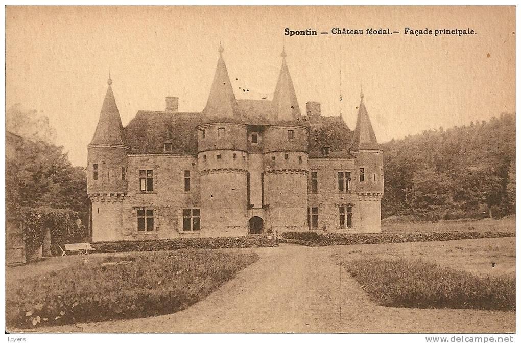 SPONTIN.  -  Château Féodal.  Façade Principale. - Yvoir