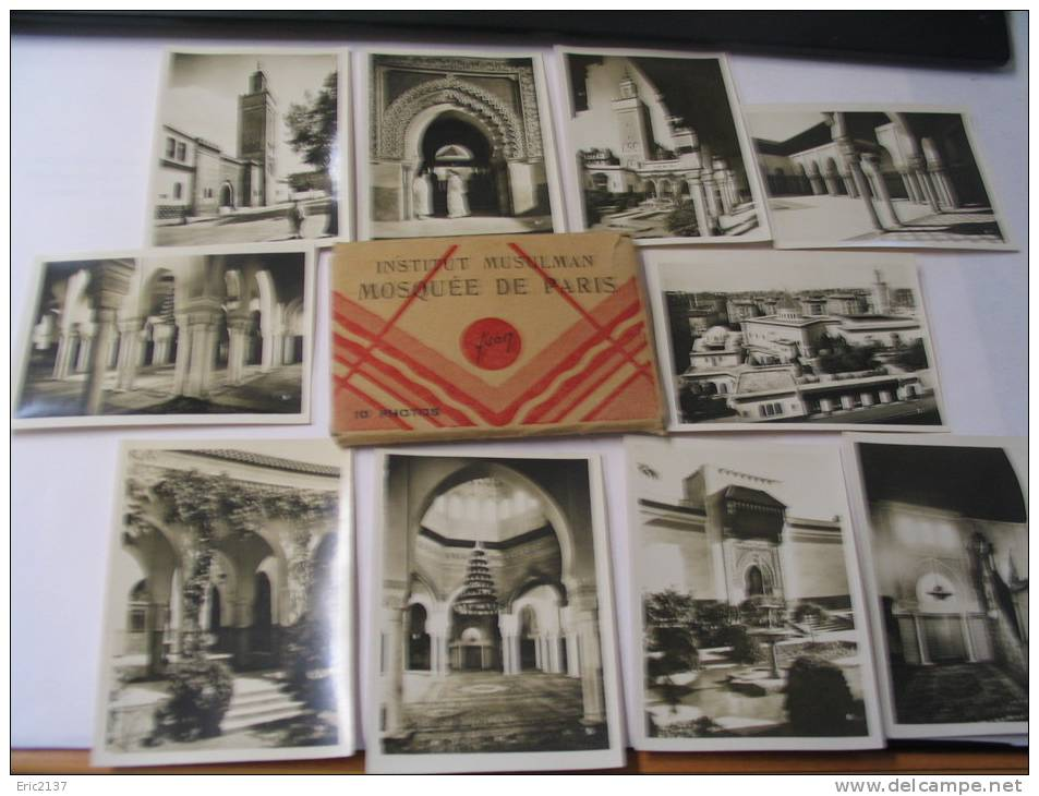 EL- CARNET DE 10 CARTES PF (9.5 X 6.5) INSTITUT MUSULMAN ...MOSQUEE DE PARIS. - Islam