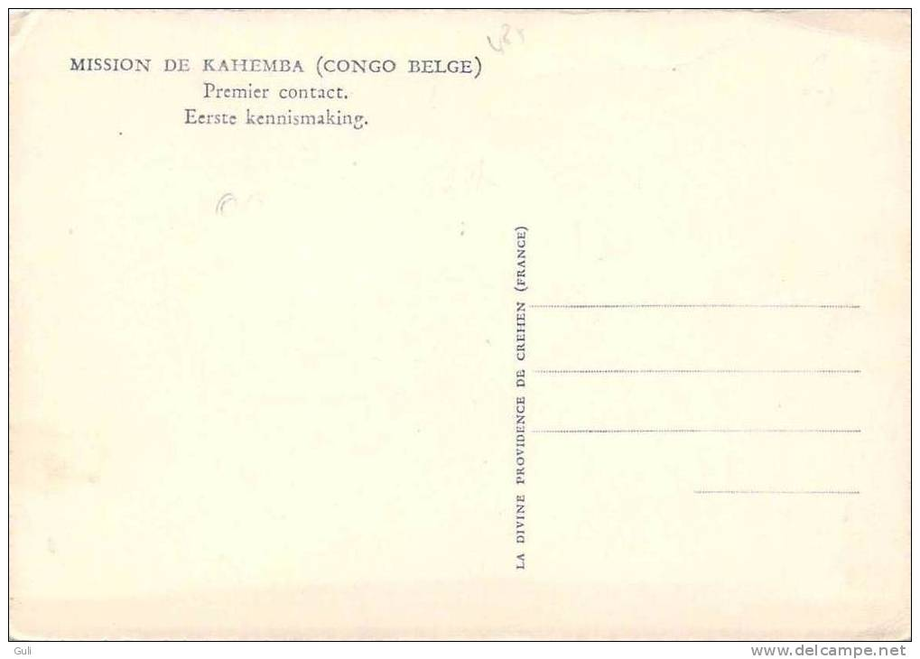 (CONGO BELGE) MISSION De KAHEMBA-Premier Contact (RELIGION Soeur  Missions Enfant  Bébé) *PRIX FIXE - Kinshasa - Léopoldville