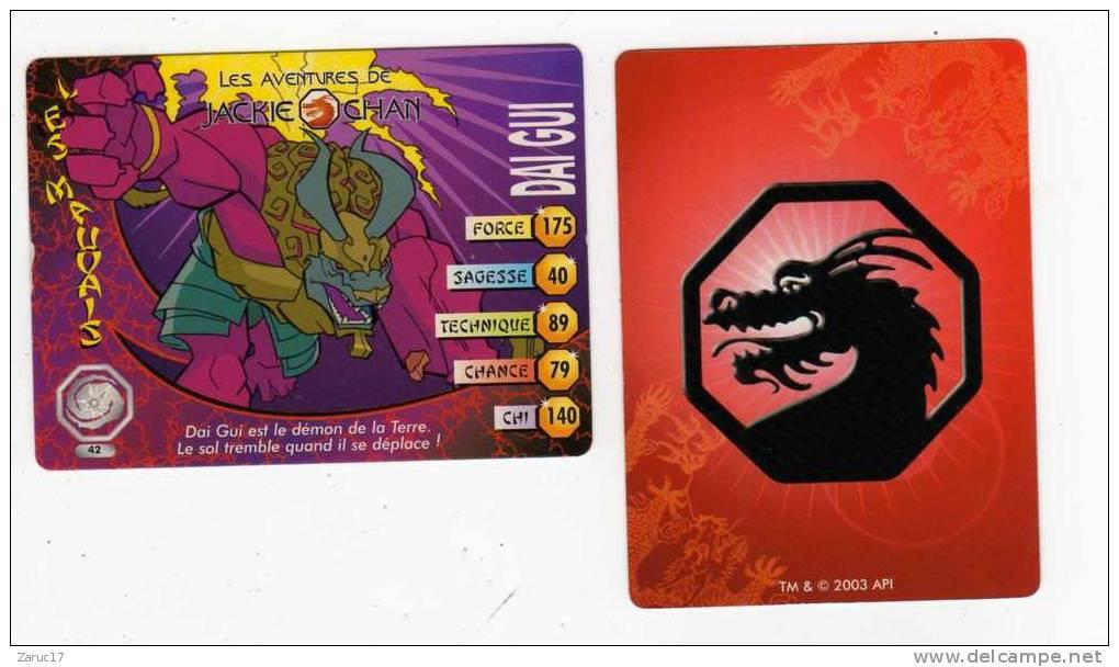 UNE IMAGE DES AVENTURES DE JACKIE CHAN DAI GUI Est Le Démon De La Terre Le Sol Tremble Quand Il Se Deplace  TM 2003 API - Trading Cards