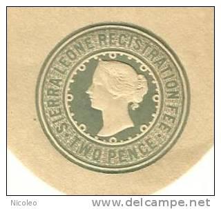 SIERRA LEONE Entier Postal Registred Letter Surchargé Overprint SPECIMEN. RARE, état TB Voir Scan - Sierra Leone (...-1960)
