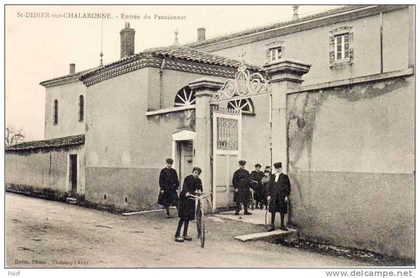 SAINT DIDIER SUR CHALARONNE -  Entrée Du Pensionnat  (54957) - Autres Communes