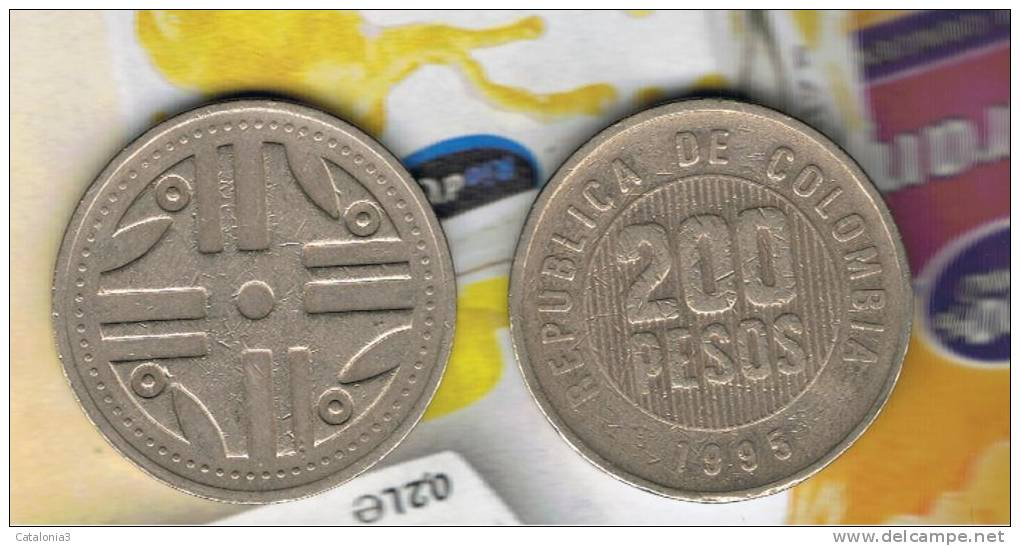 COLOMBIA -  200 Pesos 1995  KM287  -  Quimbaya Artwork - Colombia