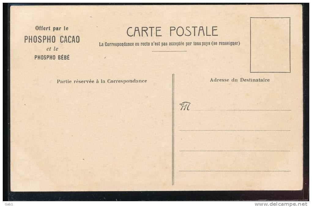 Carte PUB ---  Offert Par Le Phospho Cacao ---  Mme Lebrun --- Louvre - Pubblicitari