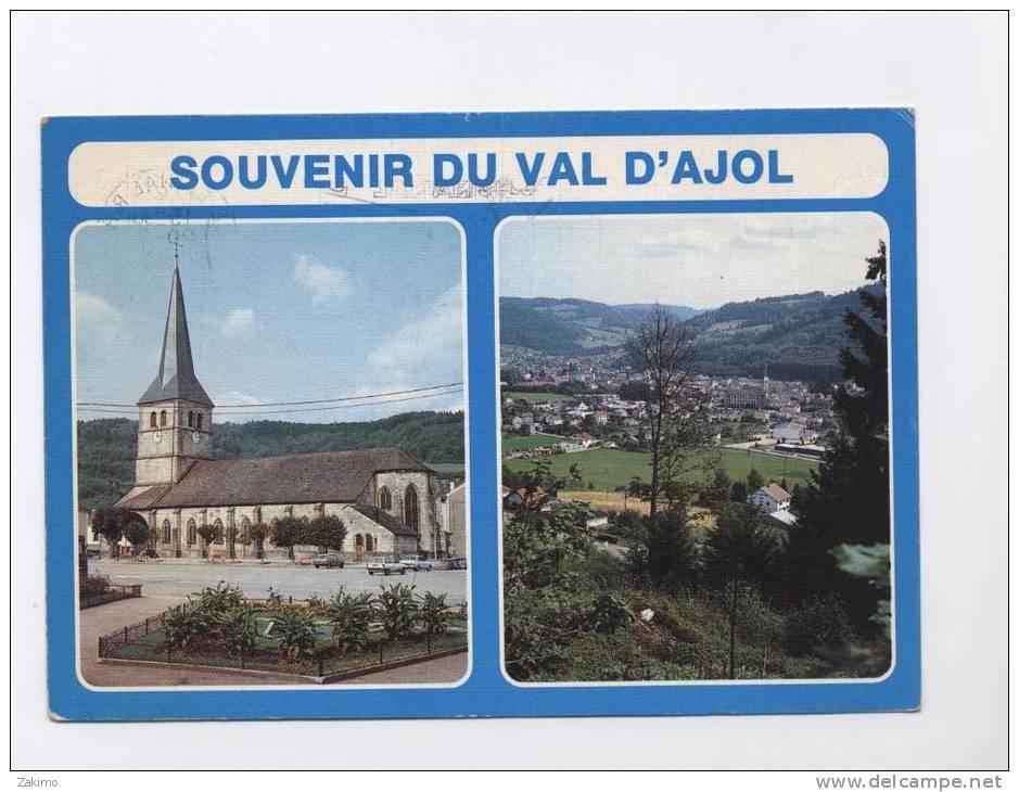 88 ---LE VAL D´AJOL --2 VUES EGLISE / GENERALE  --RECTO/ VERSO  ---100.33 - Autres Communes