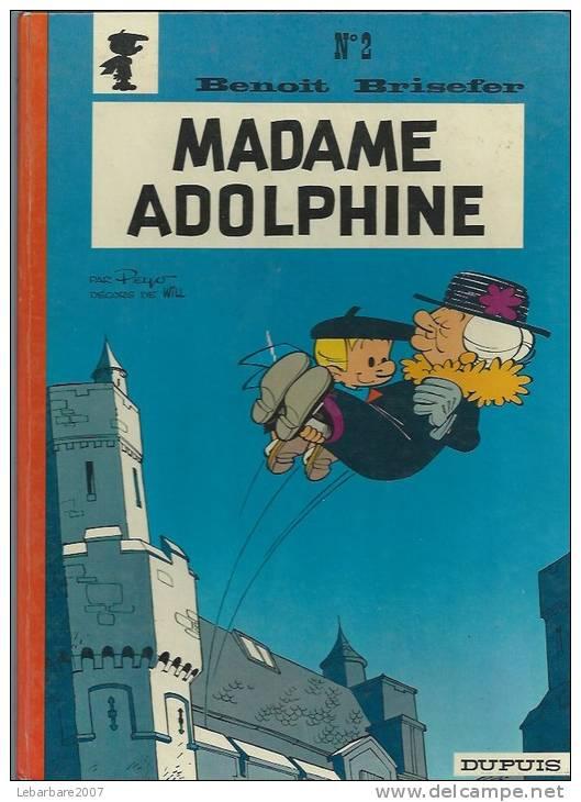 "BENOIT BRISEFER "" MADAME ADOLPHINE "" -  PEYO  - E.O.  1971  DUPUIS - Benoît Brisefer"