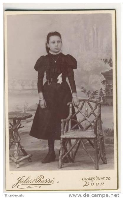 PHOTO CDV CARTE DE VISITE  +/- 1875 - Photographe JULES ROSSI Verso Vierge - Photos