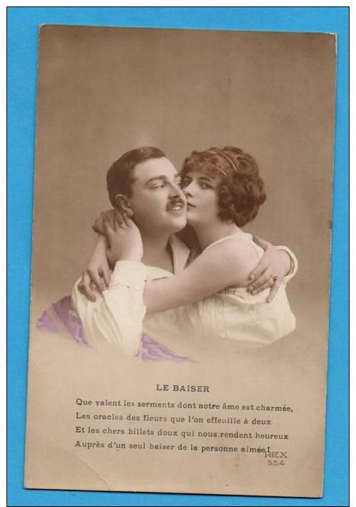 Couple Enlacé   Le Baiser - Paare