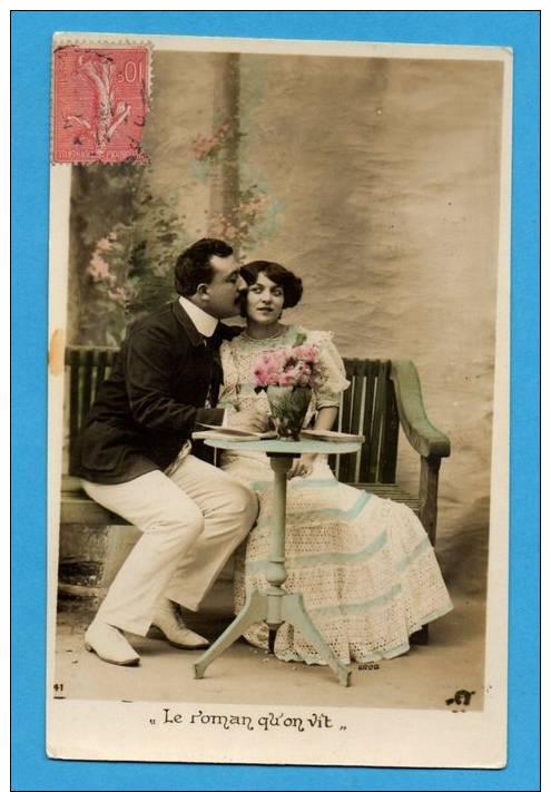 Couple Sur Un Banc    - Le Roman Qu'on Vit - Paare